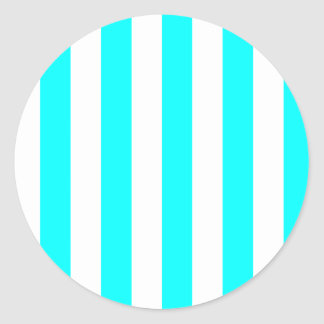 Etiqueta listrada branca adesivos redondos