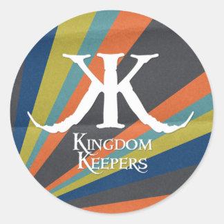 Etiqueta listrada do círculo de KK Adesivos Redondos