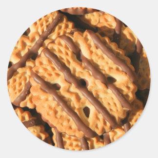 Etiqueta listrada dos biscoitos de Shortbread do Adesivos Redondos