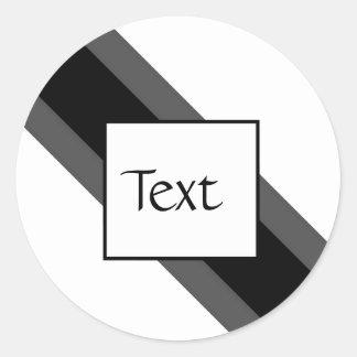Etiqueta listrada preta e cinzenta moderna adesivos em formato redondos