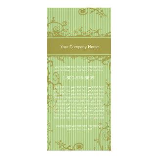 Etiqueta listrada verde do redemoinho do cartão da 10.16 x 22.86cm panfleto