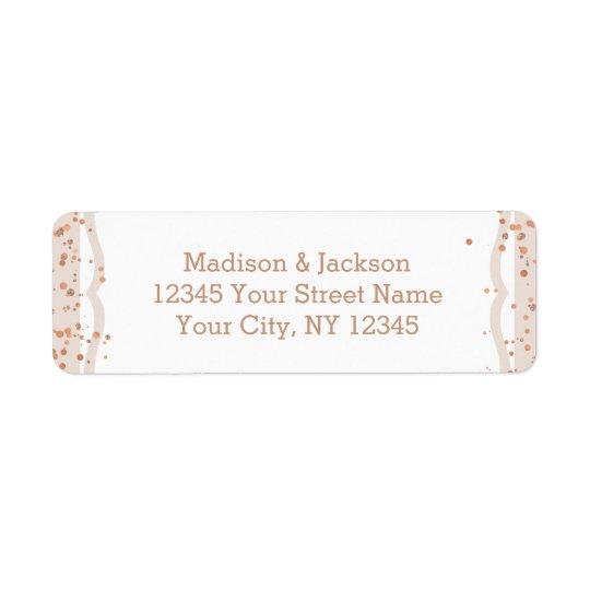 Etiqueta Listras da areia & endereço do remetente