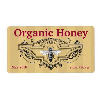 Etiqueta Listras orgânicas da abelha de rainha
