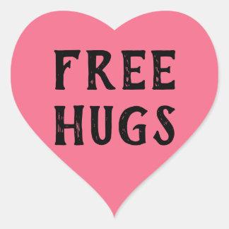 Etiqueta livre dos abraços