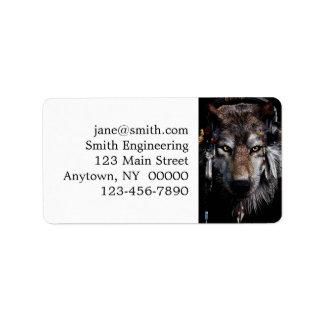 Etiqueta Lobo indiano - lobo cinzento