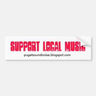 Etiqueta local da música do apoio adesivo para carro
