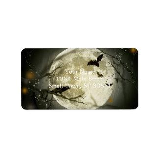 Etiqueta Lua do Dia das Bruxas - ilustração da Lua cheia
