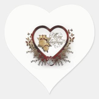 Etiqueta lustrosa dada forma coração