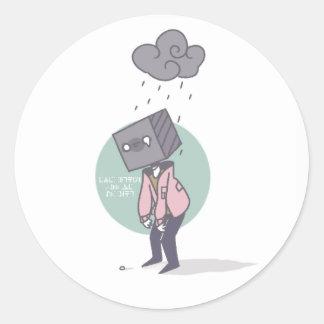 Etiqueta lustrosa do dia chuvoso