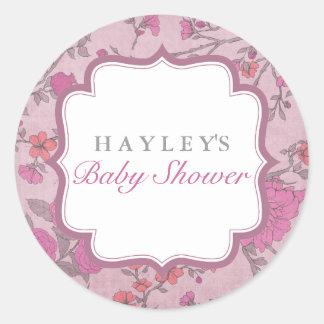 Etiqueta luxúria roxa do chá de fraldas da flor