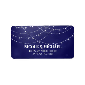 Etiqueta Luzes feericamente brancas Glam azuis
