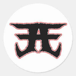 Etiqueta má americana do logotipo