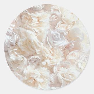 Etiqueta macia branca do tecido da pétala adesivo