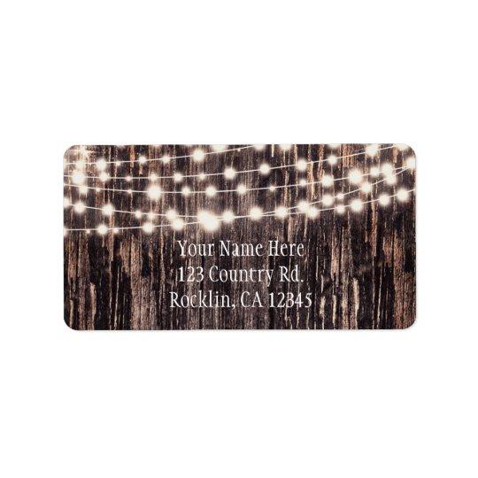 Etiqueta Madeira do latido de árvore & convite rústicos da