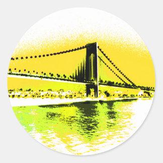 Etiqueta madura da ponte dos amarelos