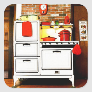 Etiqueta mágica do fogão de gás do vintage do adesivo quadrado