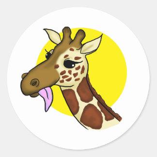 Etiqueta majestosa do girafa