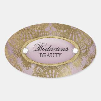 Etiqueta malva do laço do ouro da beleza Bodacious