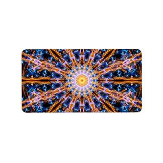 Etiqueta Mandala da estrela da alquimia