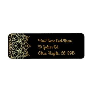 Etiqueta Mandala do ouro & casamento moderno Glam chique