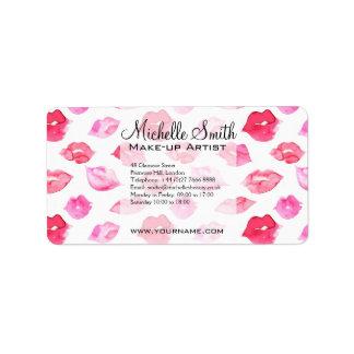 Etiqueta Marcagem com ferro quente cor-de-rosa da