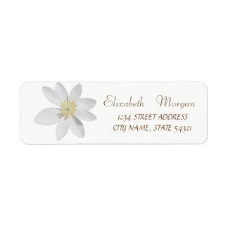 Etiqueta Margarida simples, branca chique elegante,