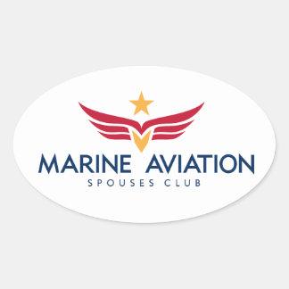Etiqueta marinha do clube dos esposos da aviação