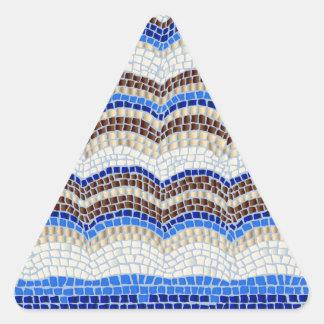 Etiqueta Matte do triângulo do mosaico azul