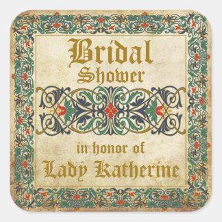 Etiqueta medieval do chá de panela do gótico do