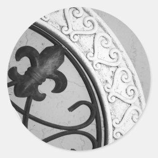 Etiqueta medieval do medalhão