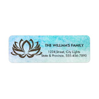 Etiqueta Meditação da praia da ioga da flor de Lotus