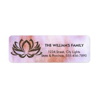 Etiqueta Meditação do instrutor da ioga da flor de Lotus