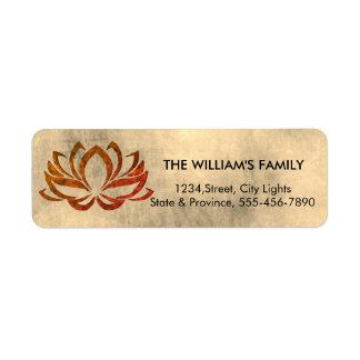 Etiqueta Meditação do vintage da ioga da flor de Lotus