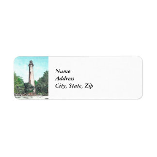 Etiqueta Meios mistos do farol da ilha de Currituck