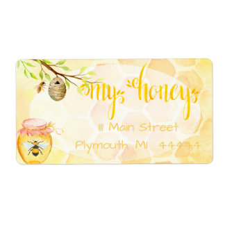 Etiqueta Mel do Apiary da abelha que envia Labe