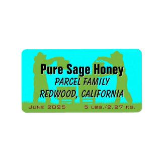 Etiqueta Mel personalizado azul do apicultor