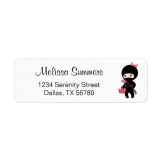 Etiqueta Menina de Ninja da compra