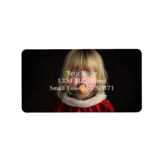 Etiqueta Menina do Natal - criança do Natal - menina bonito