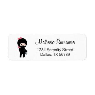 Etiqueta Menina minúscula de Ninja