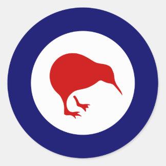 etiqueta militar da aviação do roundel do quivi de adesivos em formato redondos