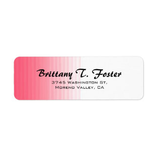 Etiqueta Minimalista elegante do roteiro branco cor-de-rosa