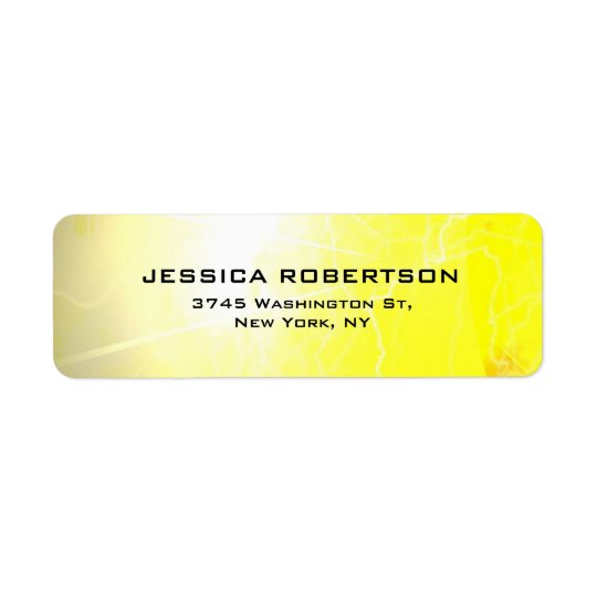 Etiqueta Minimalista moderno elegante liso legível amarelo