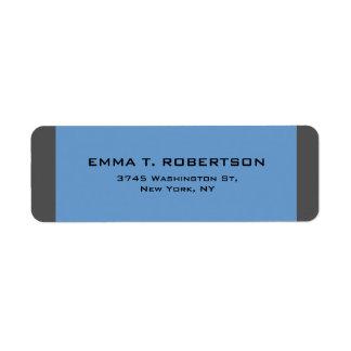 Etiqueta Minimalista na moda moderno elegante do cinza azul