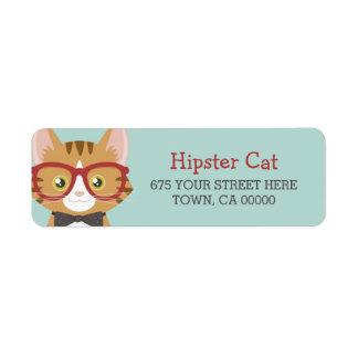 Etiqueta Miúdos alaranjados do gato do hipster do gato