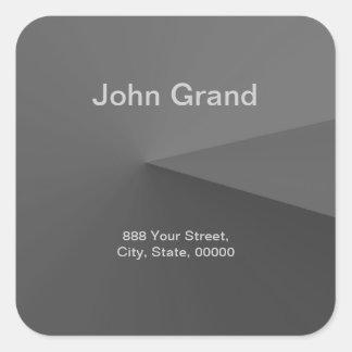 Etiqueta moderna da etiqueta de endereço adesivo quadrado