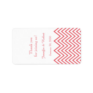 Etiqueta moderna do bálsamo de bordo do casamento etiqueta de endereço