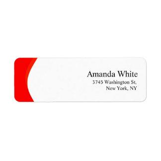 Etiqueta Moderno minimalista elegante liso vermelho &