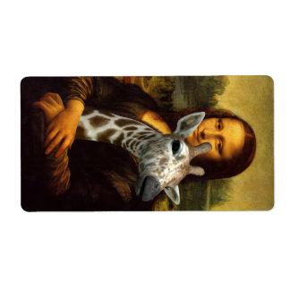 Etiqueta Mona Lisa ama girafas