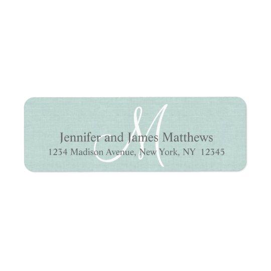 Etiqueta Monograma de linho rústico para casamentos