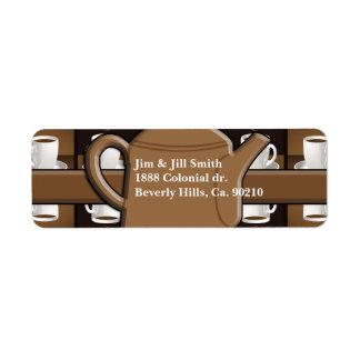 Etiqueta Monograma do mosaico do café do café do café